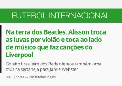 Alisson - Destaque Globoesporte.com - 15/02/2019