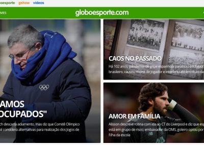 Alisson - Destaque Globoesporte.com - 20/03/2020