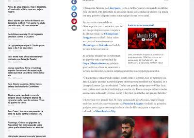 Alisson - ESPN - 18/10/2019