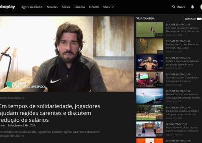 Alisson - Esporte Espetacular - 05/04/2020