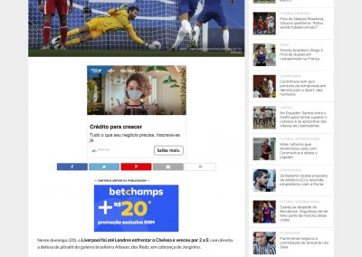 Alisson - Esporte News Mundo - 20/09/2020