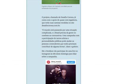 Alisson - Folha de São Paulo - 29/03/2020