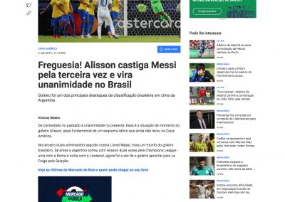 Alisson - Fox Sports - 02/07/2019