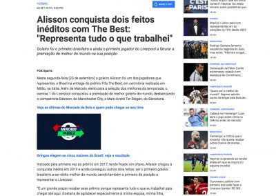 Alisson - Fox Sports - 23/09/2019