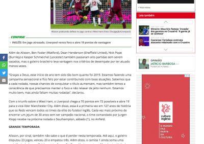 Alisson - Futebol Interior - 29/01/2020
