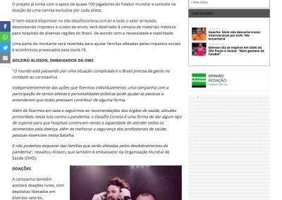 Alisson - Futebol Interior - 29/03/2020