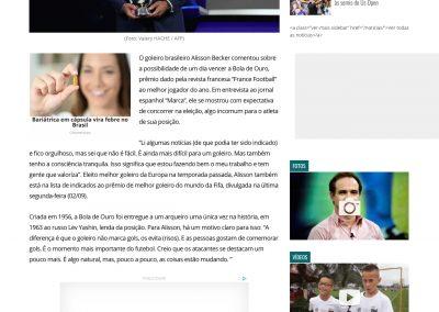 Alisson - Gazeta - 04/09/2019