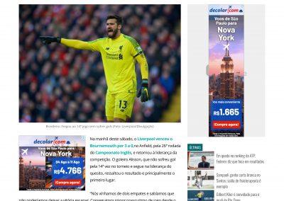 Alisson - Gazeta - 09/02/2019