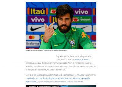 Alisson - Gazeta Esportiva - 01/07/2019
