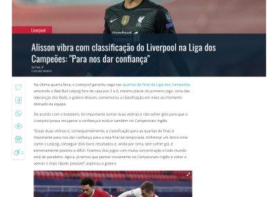 Alisson - Gazeta Esportiva - 11/03/2021