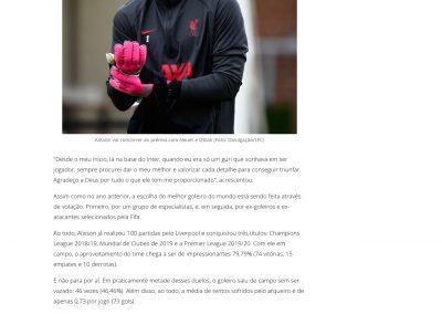 Alisson - Gazeta Esportiva - 12/12/2020