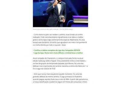 Alisson - Globoesporte.com - 30/08/2019