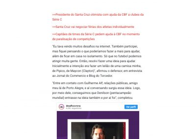 Alisson - Jornal Comércio - 29/03/2020