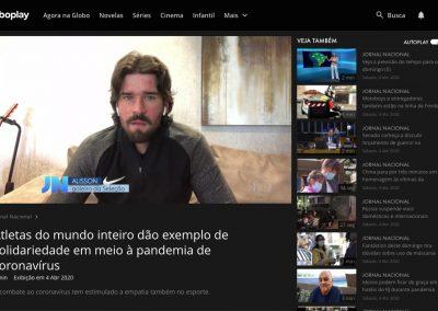 Alisson - Jornal Nacional - 04/04/2020
