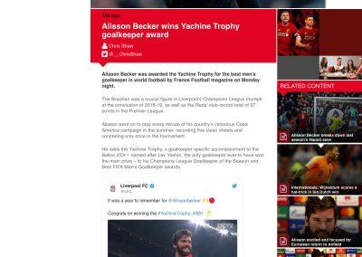 Alisson - Liverpool - 02/12/2019