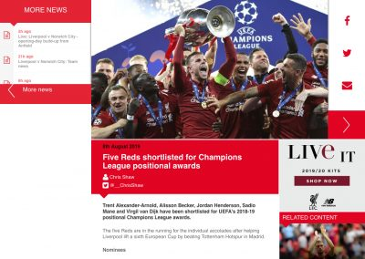 Alisson - Liverpool - 08/08/2019