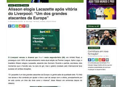 Alisson - Mercado do Futebol - 28/09/2020