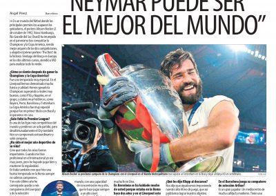 Alisson - Mundo Deportivo - 13/10/2019