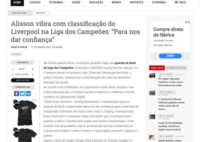Alisson - O Fluminense - 11/03/2021