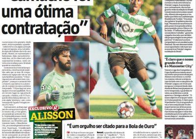 Alisson - Record - 22/07/2019