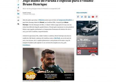 Bruno Henrique - O Estado de São Paulo - 17/11/2018