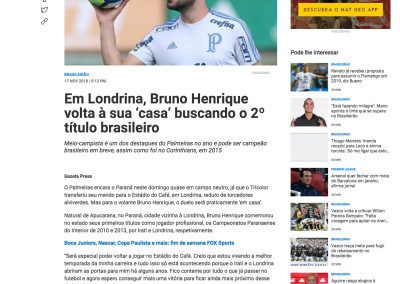 Bruno Henrique - FOX - 17/11/2018