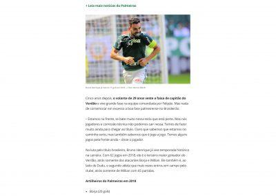 Bruno Henrique - Globo Esporte.com - 18/11/2018