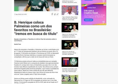Bruno Henrique - Fox Sports - 11/08/2020
