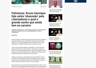 Bruno Henrique - Fox Sports - 16/05/2020