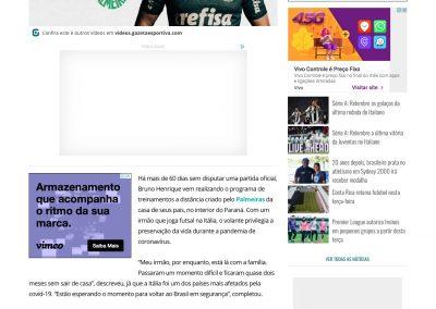 Bruno Henrique - Gazeta - 16/05/2020