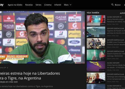 Bruno Henrique - Globo Esporte - 04/03/2020