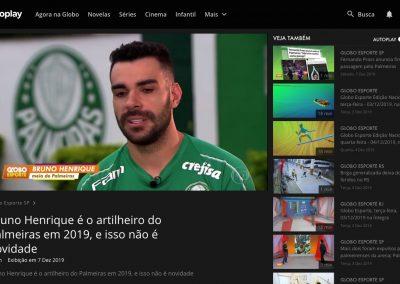 Bruno Henrique - Globo Esporte - 07/12/2019