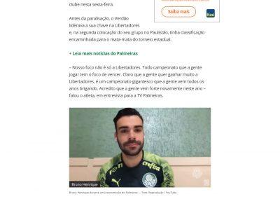 Bruno Henrique - Globoesporte.com - 15/05/2020
