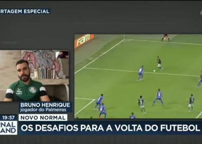 Bruno Henrique - Jornal da Band - 11/06/2020