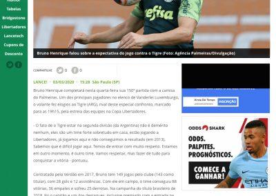 Bruno Henrique - Lance - 03/03/2020