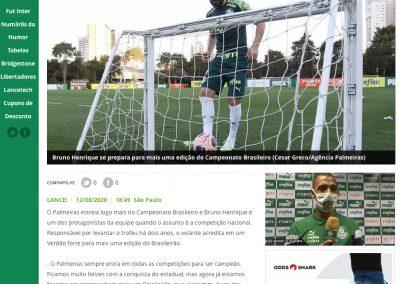 Bruno Henrique - Lance - 12/08/2020