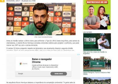 Bruno Henrique - Palmeiras Todo Dia - 03/03/2020