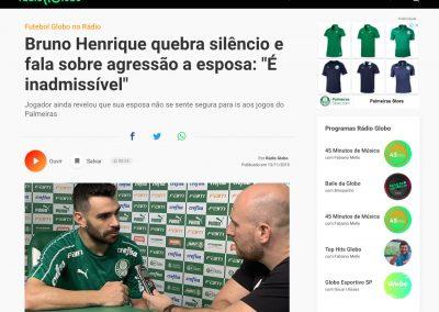 Bruno Henrique - Rádio Globo - 13/11/2019