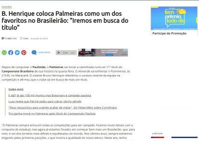 Bruno Henrique - Terra - 11/08/2020