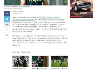 Bruno Henrique - Uol - 26/02/2020