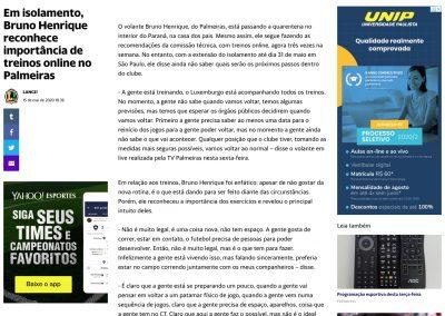 Bruno Henrique - Yahoo - 15/05/2020