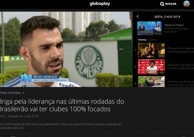 Bruno Henrique - Jornal Nacional - 01/11/2018