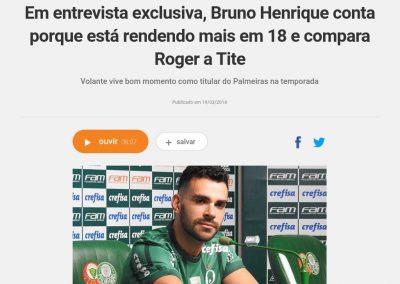 Bruno Henrique - Rádio Globo - 19/03/2018