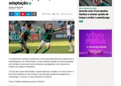 Bruno Henrique - UOL - 30/07/2018