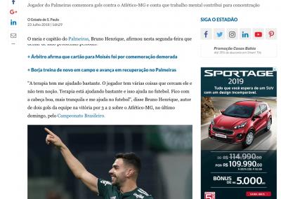 Bruno Henrique - O Estado de São Paulo - 23/07/2018