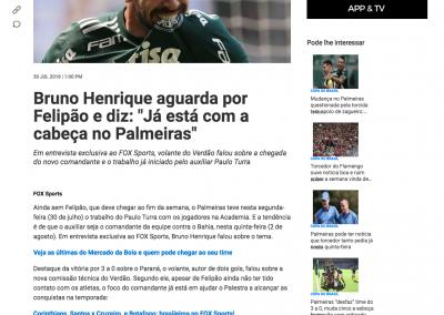 Bruno Henrique - FOX - 30/07/2018
