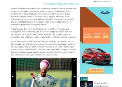 Bruno Henrique - Gazeta Esportiva - 06/04/2018