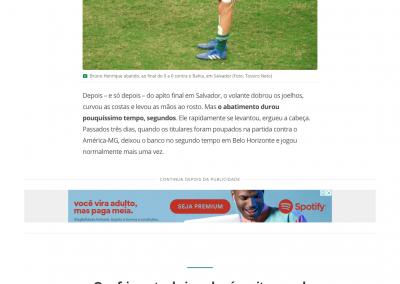 Bruno Henrique - Globo Esporte - 09/08/2018