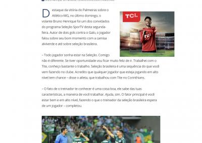 Bruno Henrique - Seleção Sportv - 23/07/2018