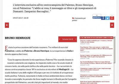 Bruno Henrique - Gazzetta dello Sport - 09/07/2017